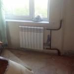 Радиатор отопления после замены