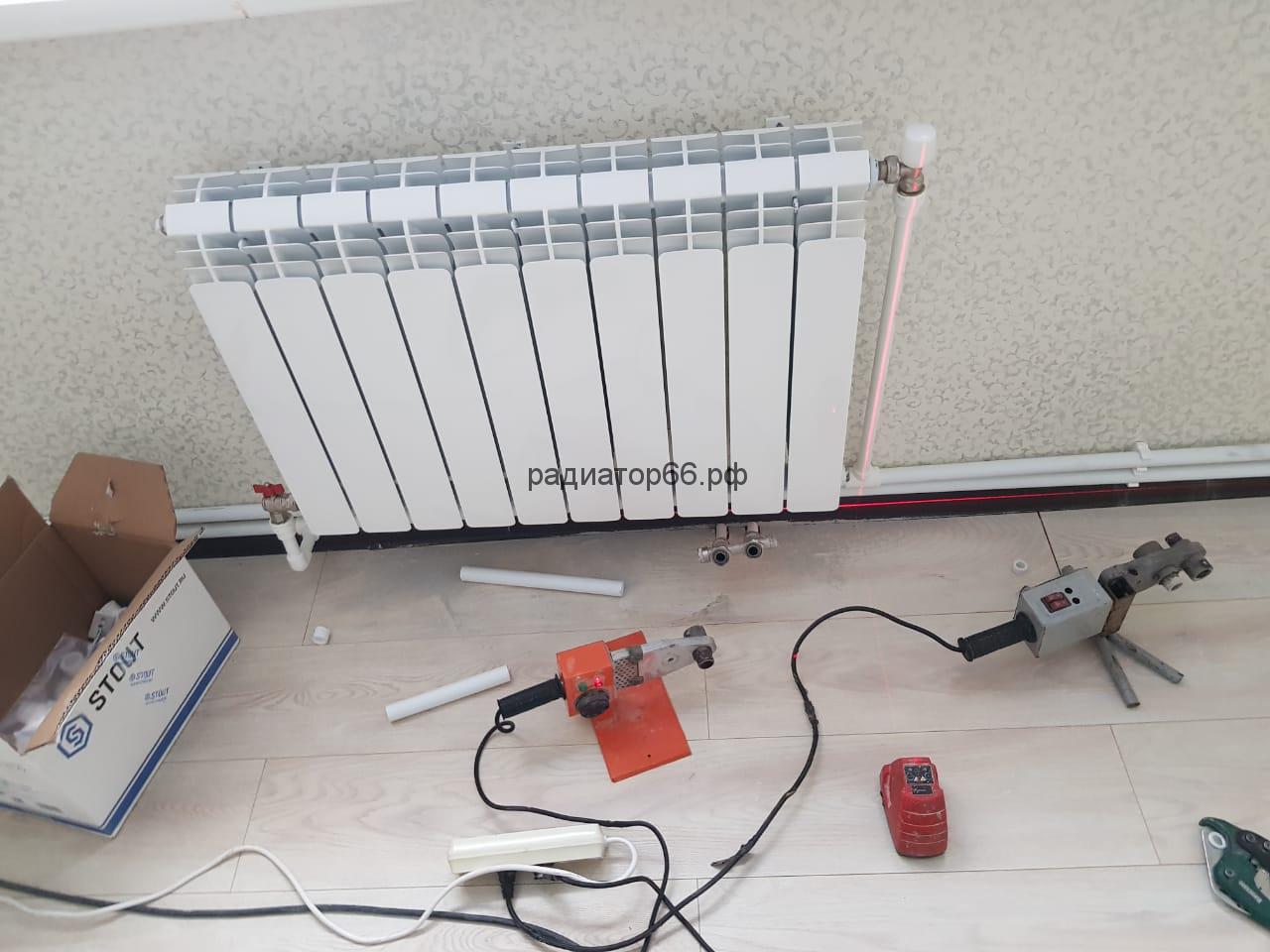 Установка и подключение радиатора