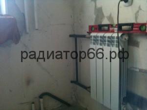 Установка современного радиатора отопления