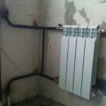 Радиатор отопления после установки