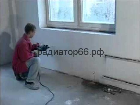 Подготовка к установке радиаторов на стене