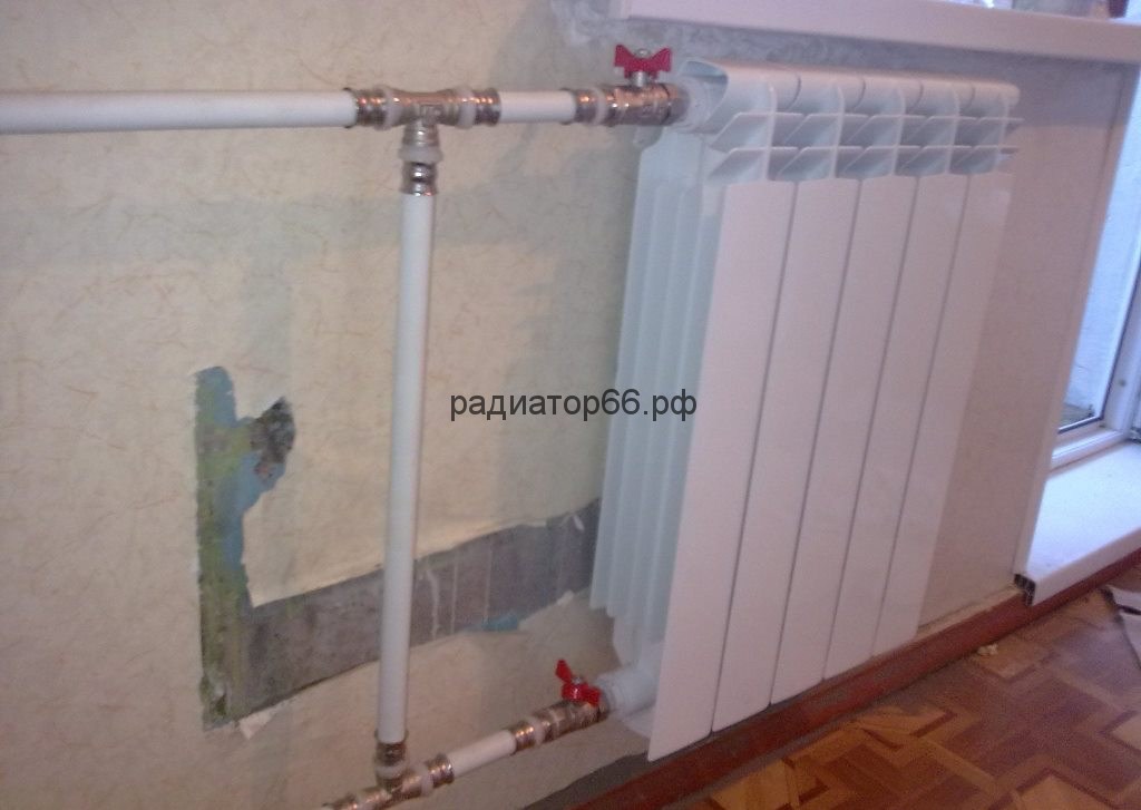 Установка радиаторов батарей отопления в Екатеринбурге