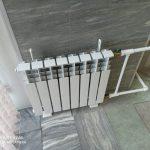 Монтаж радиатора в офисе