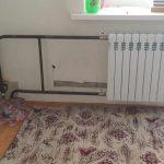 Установка нового чугунного радиатора